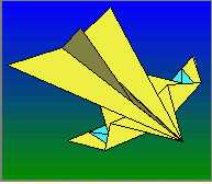 Willow paper airplane plane folding instructions
